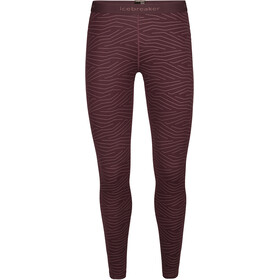 Icebreaker 200 Oasis Napasoq Lines Leggings Women, redwood